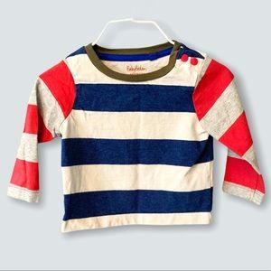 Baby Boden | Wide Stripe Tee Shirt (3-6 mos)